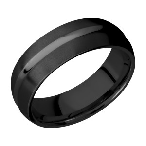 Lashbrook Z7DC Zirconium Wedding Ring or Band