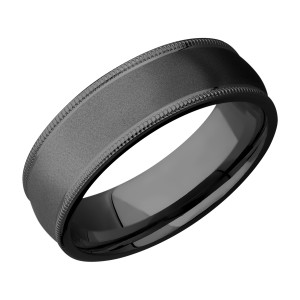 Lashbrook Z7DMIL Zirconium Wedding Ring or Band