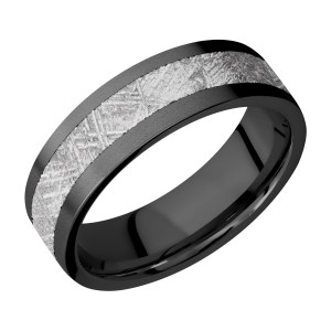 Lashbrook Z7F14/METEORITE Zirconium Wedding Ring or Band