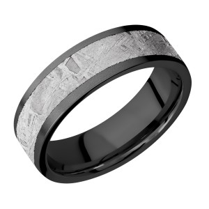 Lashbrook Z7F15/METEORITE Zirconium Wedding Ring or Band