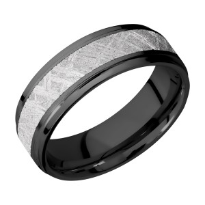 Lashbrook Z7FGE14/METEORITE Zirconium Wedding Ring or Band