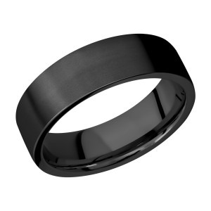 Lashbrook Z7FR Zirconium Wedding Ring or Band