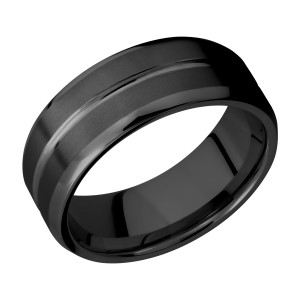Lashbrook Z8B11U Zirconium Wedding Ring or Band