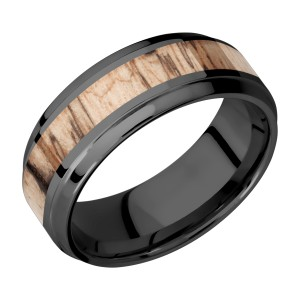 Lashbrook Z8B14(S)/HARDWOOD Zirconium Wedding Ring or Band