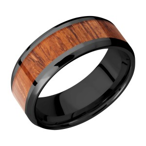 Lashbrook Z8B15(NS)/HARDWOOD Zirconium Wedding Ring or Band