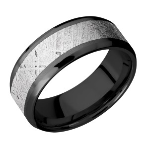 Lashbrook Z8B15(NS)/METEORITE Zirconium Wedding Ring or Band
