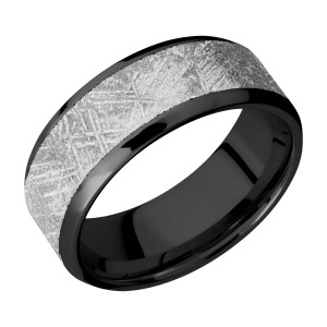Lashbrook Z8B16(NS)/METEORITE Zirconium Wedding Ring or Band