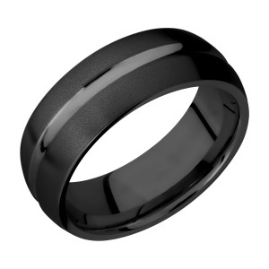 Lashbrook Z8DC Zirconium Wedding Ring or Band