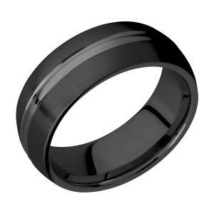 Lashbrook Z8DD Zirconium Wedding Ring or Band