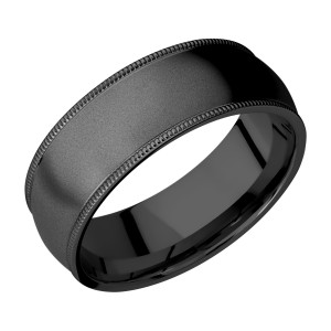 Lashbrook Z8DMIL Zirconium Wedding Ring or Band