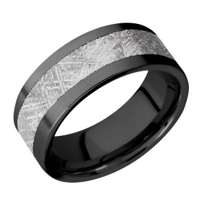 Lashbrook Z8F15/METEORITE Meteorite Wedding Ring or Band