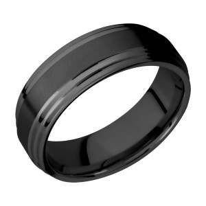 Lashbrook Z8F2S Zirconium Wedding Ring or Band