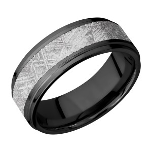 Lashbrook Z8FGE15/METEORITE Zirconium Wedding Ring or Band