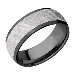 Lashbrook Z9D17/METEORITE Zirconium Wedding Ring or Band