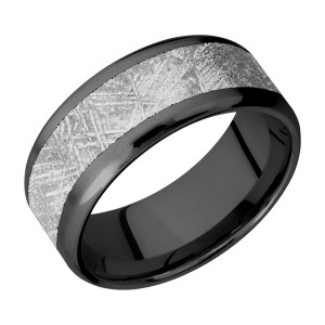 Lashbrook Z9B16(NS)/METEORITE Zirconium Wedding Ring or Band