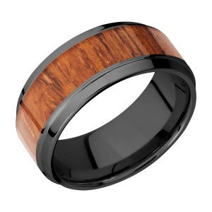 Lashbrook Z9B16(S)/HARDWOOD Zirconium Wedding Ring or Band