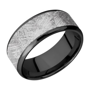 Lashbrook Z9B17(NS)/METEORITE Zirconium Wedding Ring or Band