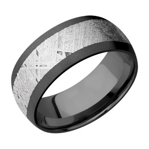 Lashbrook Z9D16/METEORITE Zirconium Wedding Ring or Band