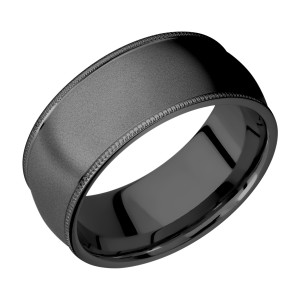 Lashbrook Z9DMIL Zirconium Wedding Ring or Band