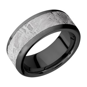 Lashbrook Z9F16/METEORITE Zirconium Wedding Ring or Band