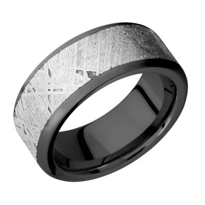Lashbrook Z9F17/Meteorite Zirconium Wedding Ring or Band