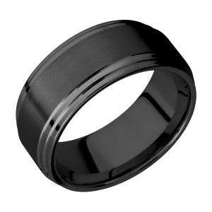 Lashbrook Z9F2S Zirconium Wedding Ring or Band