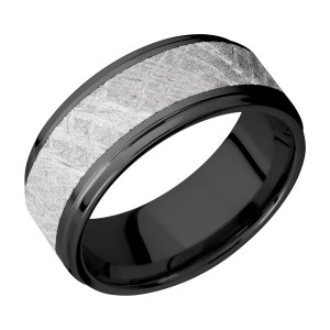 Lashbrook Z9FGE16/METEORITE Zirconium Wedding Ring or Band