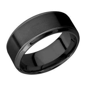 Lashbrook Z9HB2UMIL Zirconium Wedding Ring or Band