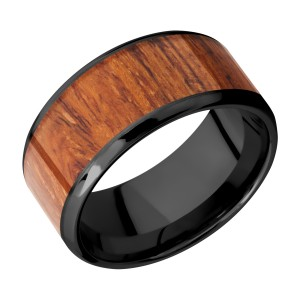 Lashbrook Z10B18(NS)/HARDWOOD Zirconium Wedding Ring or Band
