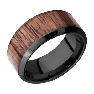 Lashbrook Z10HB17/HARDWOOD Zirconium Wedding Ring or Band