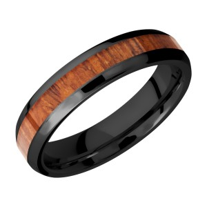 Lashbrook Z5B13(NS)/HARDWOOD Zirconium Wedding Ring or Band