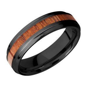 Lashbrook Z6B13(S)/HARDWOOD Zirconium Wedding Ring or Band