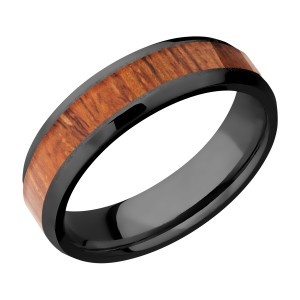 Lashbrook Z6B14(NS)/HARDWOOD Zirconium Wedding Ring or Band