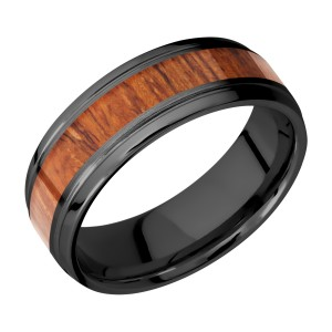 Lashbrook Z7B14(S)/HARDWOOD Zirconium Wedding Ring or Band