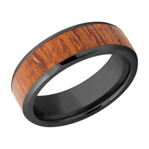 Lashbrook Z7B15(NS)/HARDWOOD Zirconium Wedding Ring or Band
