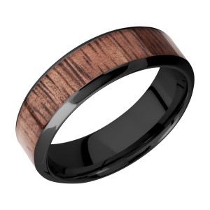 Lashbrook Z7HB14/HARDWOOD Zirconium Wedding Ring or Band