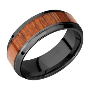 Lashbrook Z8B15(S)/HARDWOOD Zirconium Wedding Ring or Band
