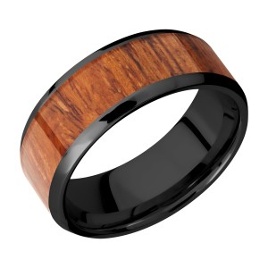 Lashbrook Z8B16(NS)/HARDWOOD Zirconium Wedding Ring or Band