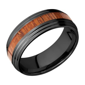 Lashbrook Z8F2S13/HARDWOOD Zirconium Wedding Ring or Band