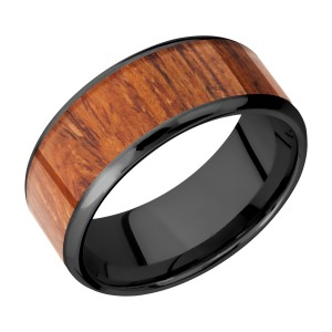 Lashbrook Z9B17(NS)/HARDWOOD Zirconium Wedding Ring or Band