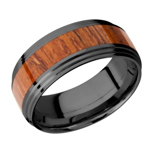 Lashbrook Z9F2S14/HARDWOOD Zirconium Wedding Ring or Band