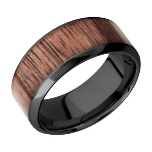 Lashbrook Z9HB16/HARDWOOD Zirconium Wedding Ring or Band