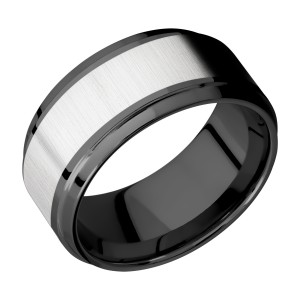 Lashbrook ZPF10B16(S)/COBALT Zirconium Wedding Ring or Band