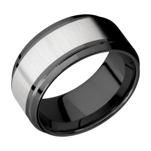 Lashbrook ZPF10B16(S)/TITANIUM Zirconium Wedding Ring or Band