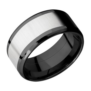 Lashbrook ZPF10B17(NS)/COBALT Zirconium Wedding Ring or Band
