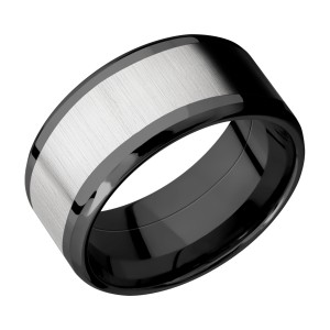 Lashbrook ZPF10B17(NS)/TITANIUM Zirconium Wedding Ring or Band