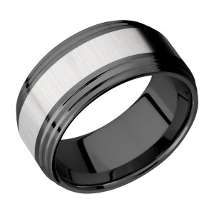 Lashbrook ZPF10F2S15/TITANIUM Zirconium Wedding Ring or Band