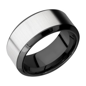 Lashbrook ZPF10HB17/COBALT Zirconium Wedding Ring or Band