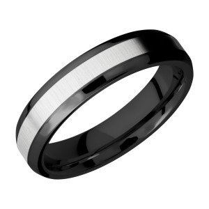 Lashbrook ZPF5B13(NS)/COBALT Zirconium Wedding Ring or Band