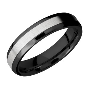 Lashbrook ZPF5B13(NS)/TITANIUM Zirconium Wedding Ring or Band